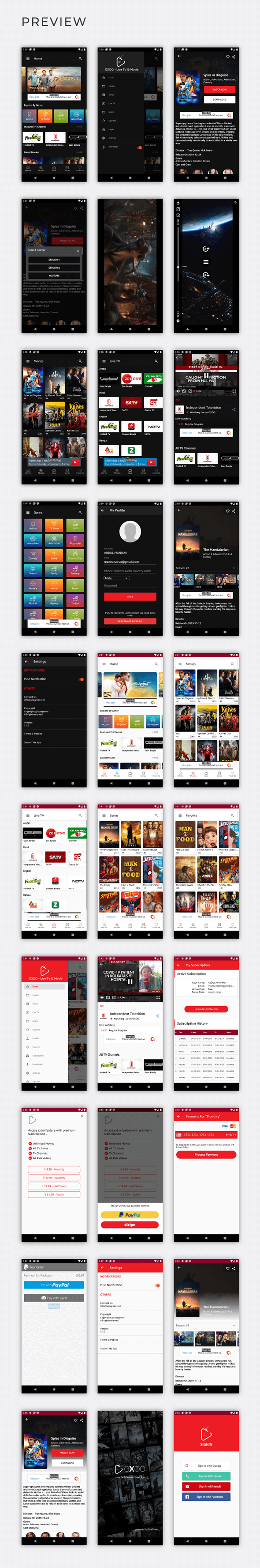 OXOO - Android Live TV & Movie Portal App with Subscription System - 4
